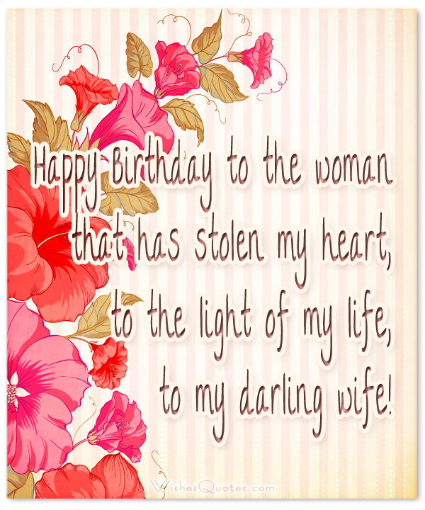 birthday wishes for wife romantic and passionate - 600×720