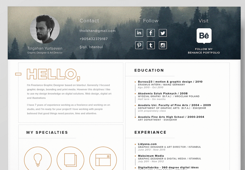 20 free modern resume templates creative wordpress themes