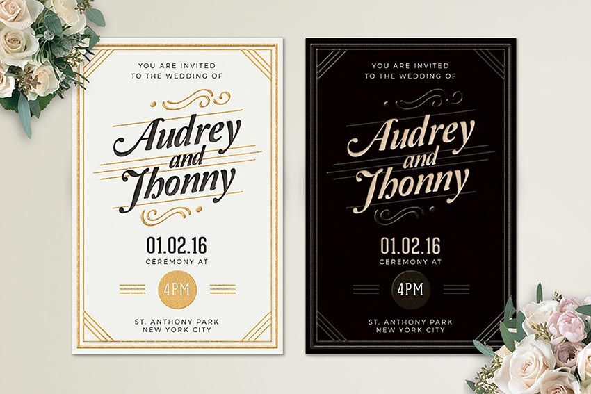 Elegant Wedding Invitation Templates: 20 Best Wedding Invitation Templates