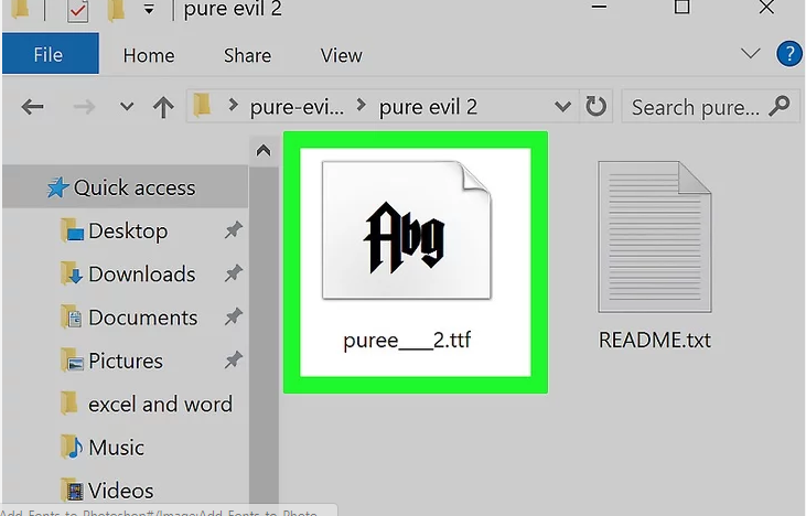Add Fonts in Photoshop